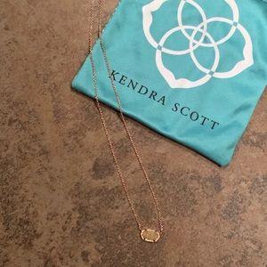 Kendra Scott Elisa Rose Gold Pendant